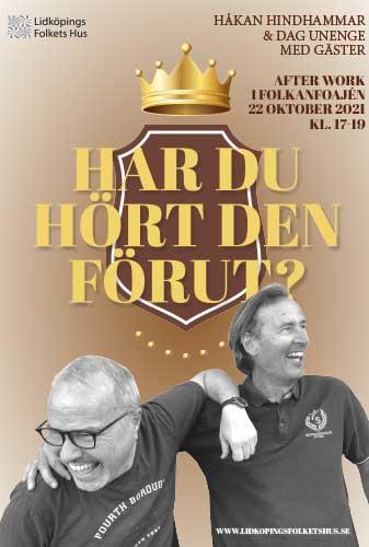 Affisch för AW i foajén: Har du hört den förut?