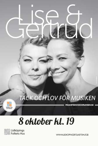 Affisch för Lise & Gertrud - tack och lov för musiken