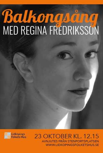 Affisch för Balkongsång med Regina Fredriksson
